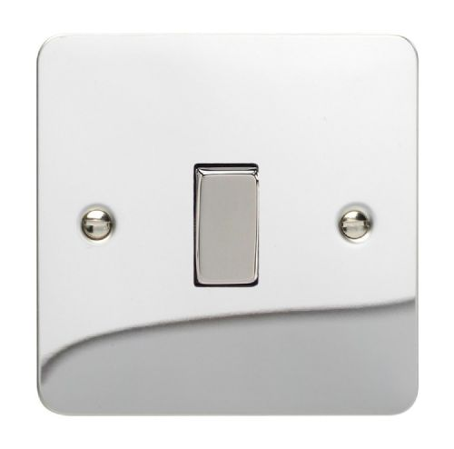 Varilight XFC7D Ultraflat Polished Chrome 1 Gang 10A Intermediate Rocker Light Switch